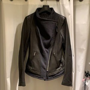 Mackage leather and wool jacket